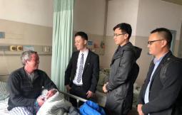 汪成明:感恩每一份支持 ——中国公益网携手轻松筹共同看望大病患者
